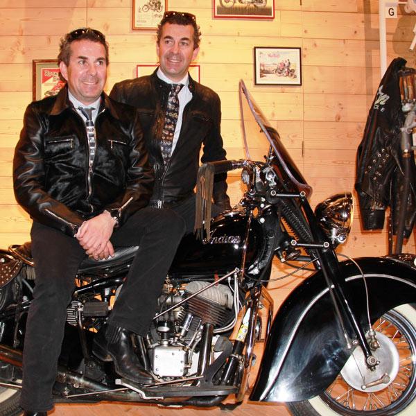 Alban und Attila Scheiber, Besitzer des Top Mountain Motorcycle Museum