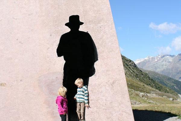 Silhouette of an ancient smuggler - Timmelsjoch High Alpine Pass Road, Obergurgl-Hochgurgl