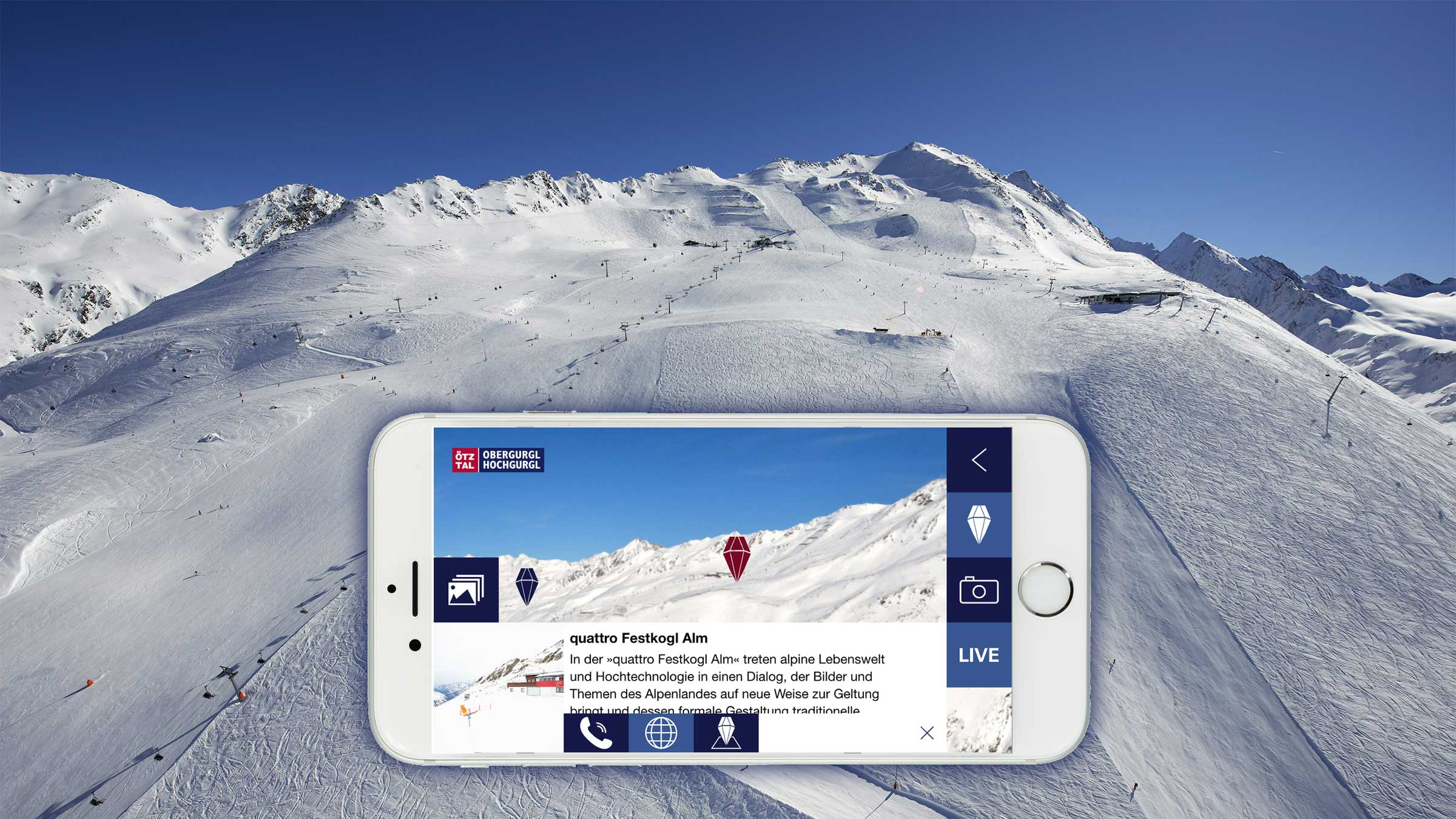 Festkogl und Mountain Navigator App - Obergurgl-Hochgurgl, Ötztal, Tirol