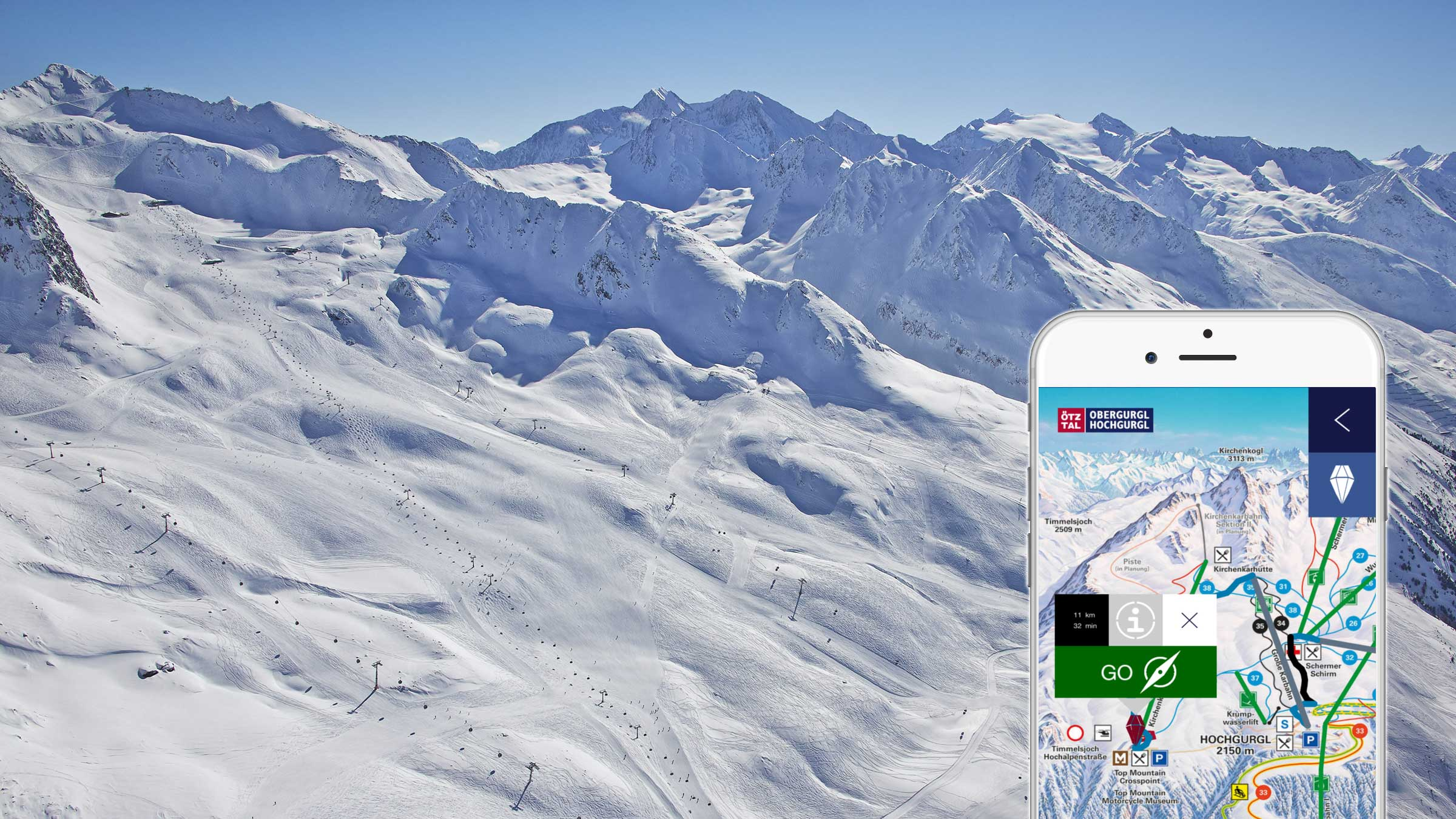 A complete ski area in your pocket