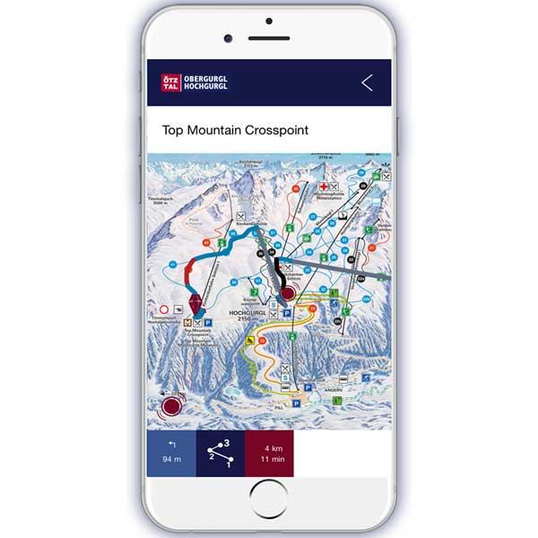 Mountain Navigator App Navigation - Obergurgl-Hochgurgl, Ötztal, Tirol