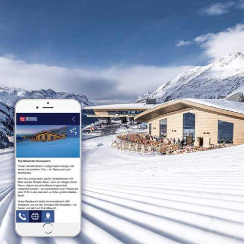 Top Mountain Crosspoint mit Mountain Navigator App - Obergurgl-Hochgurgl, Ötztal, Tirol