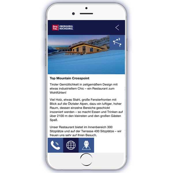 Mountain Navigator App Info TMC - Obergurgl-Hochgurgl, Ötztal, Tirol
