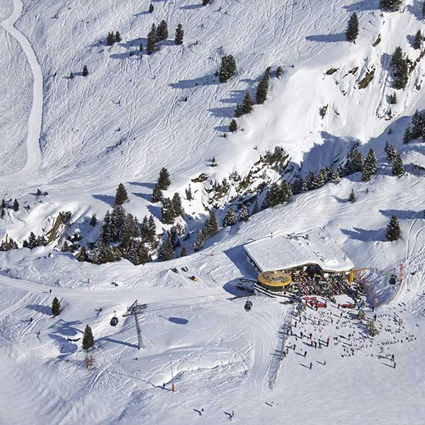 Nederhütte im Skigebiet von Obergurgl-Hochgurgl, Ötztal, Tirol, Ski-Opening