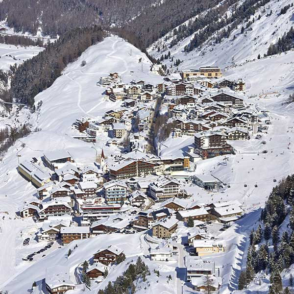 View onto Obergurgl in winter - Obergurgl-Hochgurgl, Ötztal, Tyrol