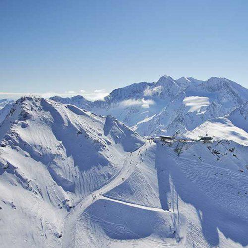 Blick auf die Top Mountain Star Panoramabar - Obergurgl-Hochgurgl, Ötztal, Tirol, Sound der Berge