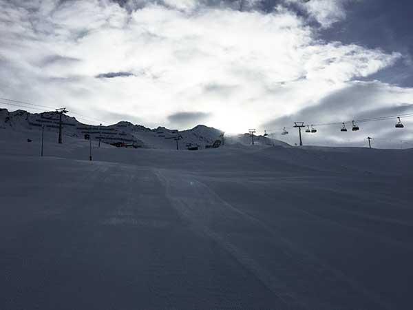 Skipiste in Obergurgl-Hochgurgl, Ötztal, Tirol, Ski-Opening