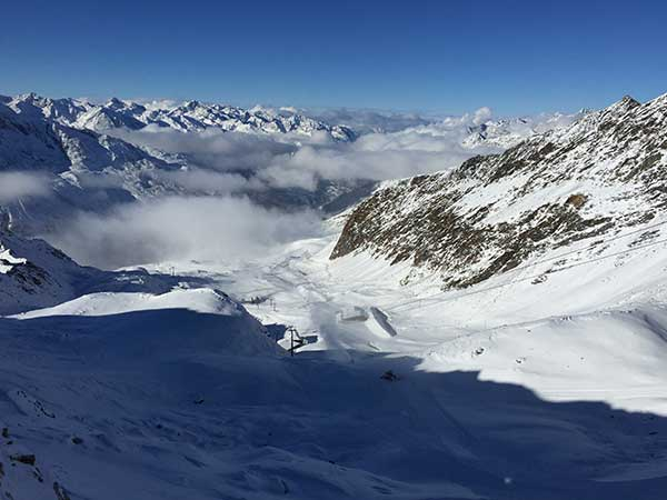 Blick vom Top Mountain Star talauswaerts - Obergurgl-Hochgurgl, Ötztal, Tirol, Ski-Opening