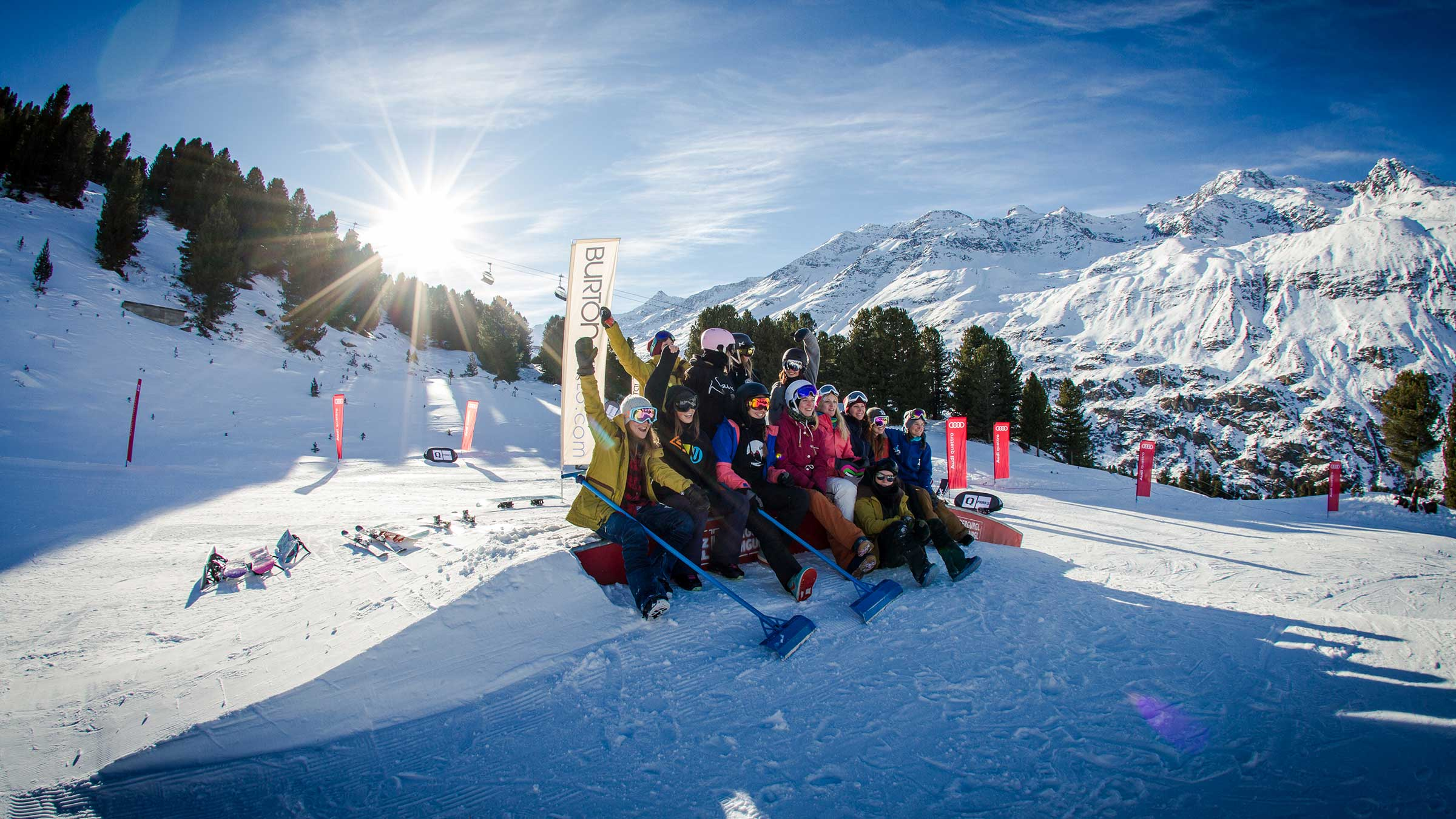 Girls Shred Sessions at quattro Snow Park Obergurgl