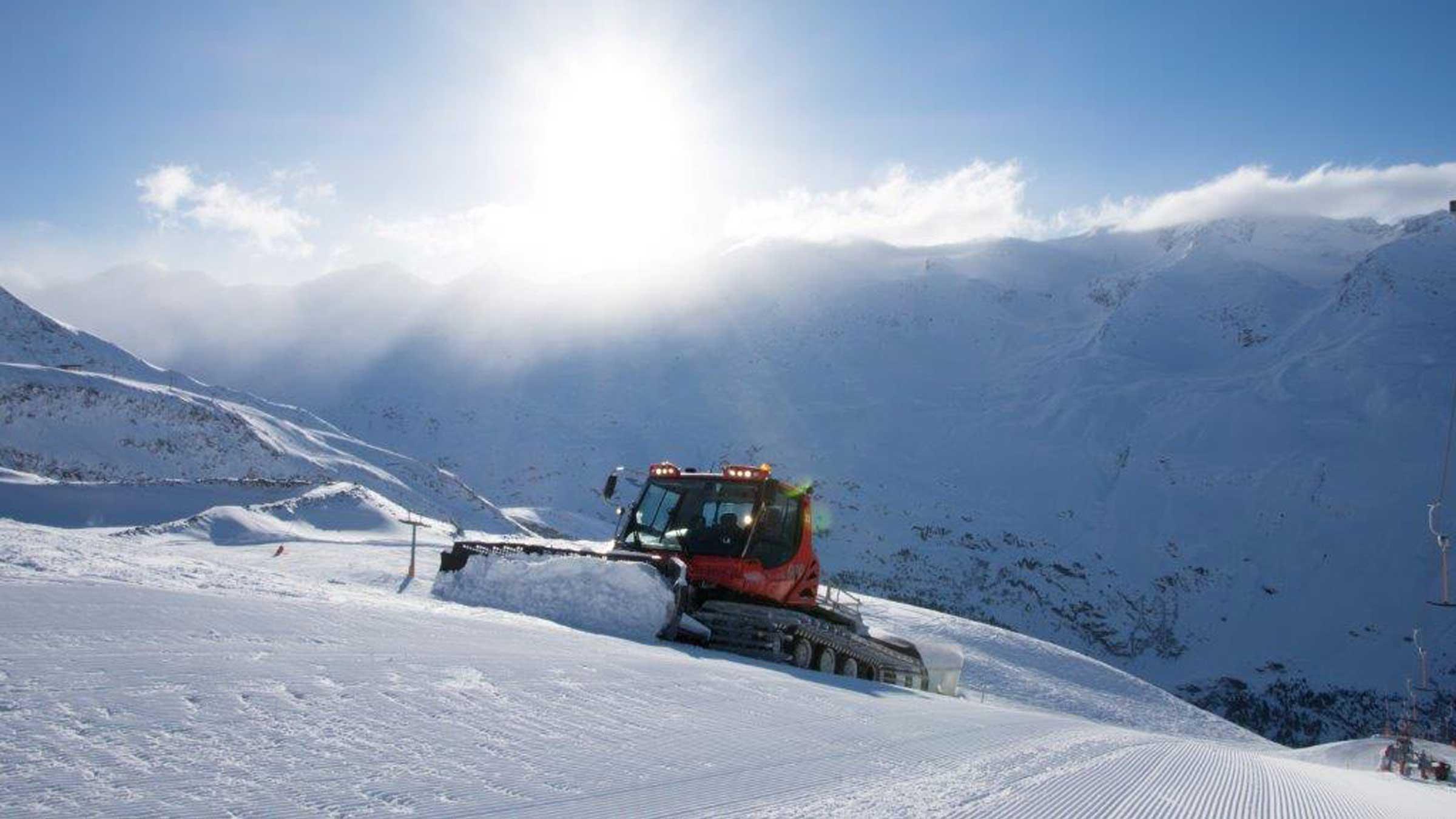 PIstenbully bei der Arbeit - Powder Snow Week Obergurgl-Hochgurgl