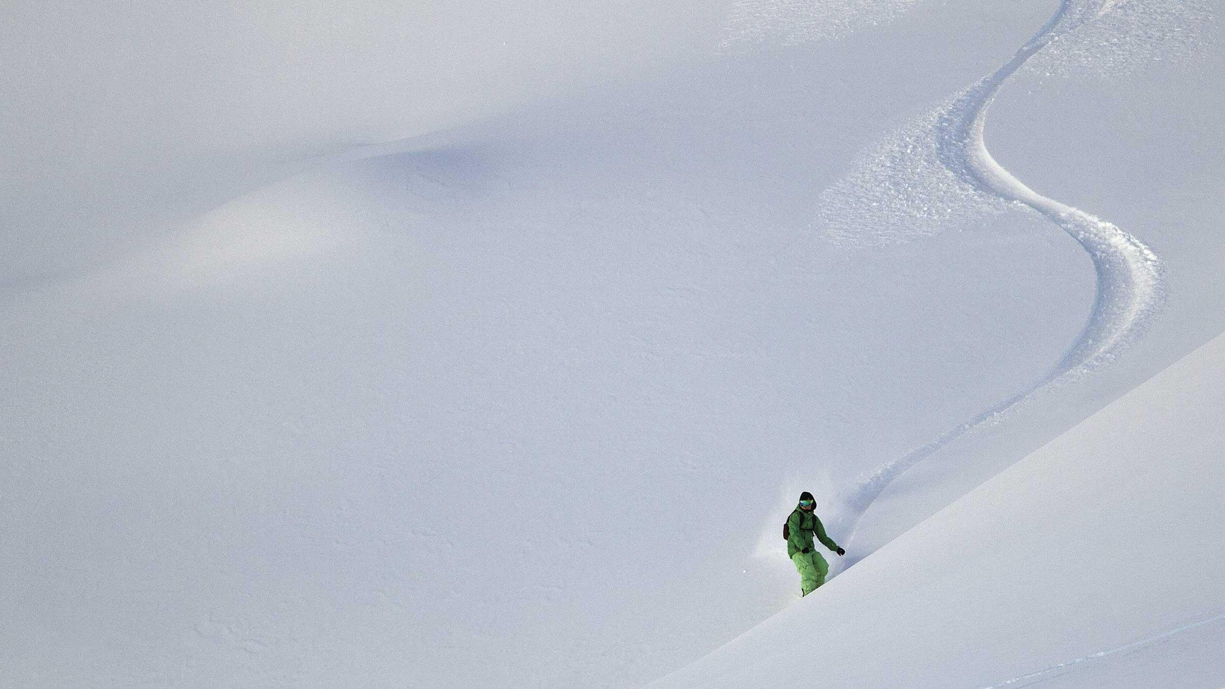 Snowboarder im Tiefschnee - Powder Snow Week Obergurgl-Hochgurgl
