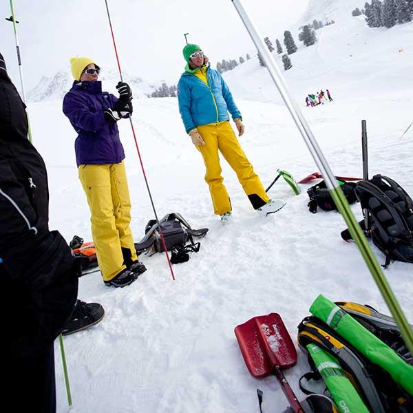 Sondenübung - SNOWHOW Workshop Lawine Obergurgl-Hochgurgl