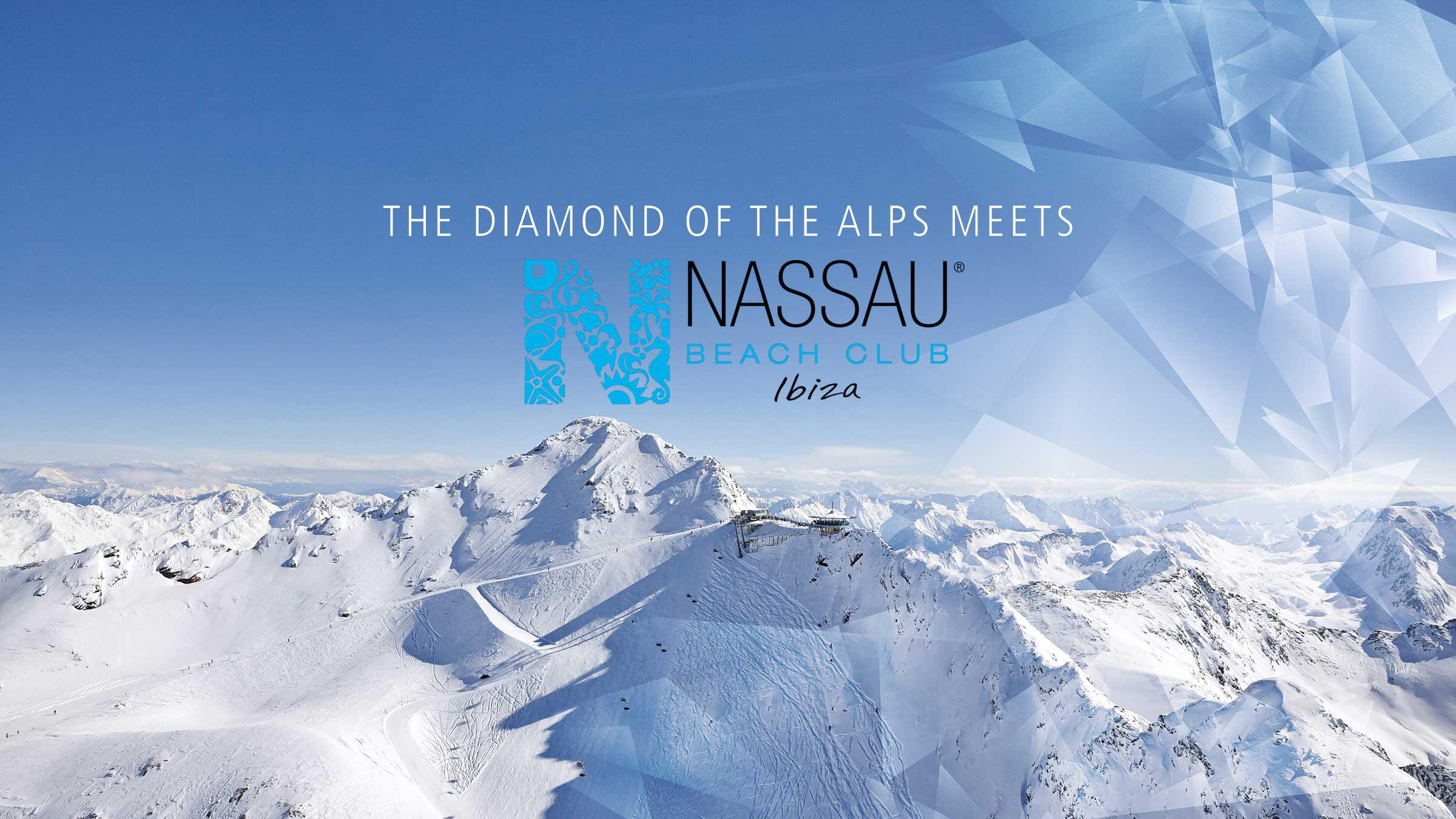 Der Diamant der Alpen feiert mit dem Nassau Beach Club Ibiza