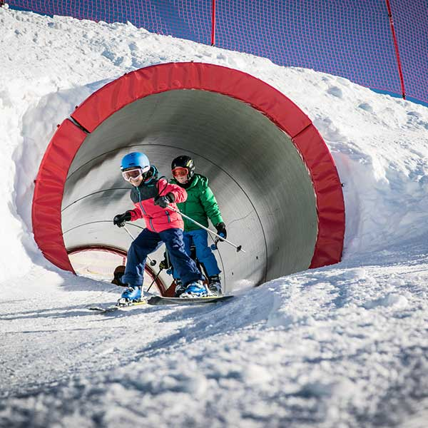 Kids nach dem Tunnel - Funslope Obergurgl