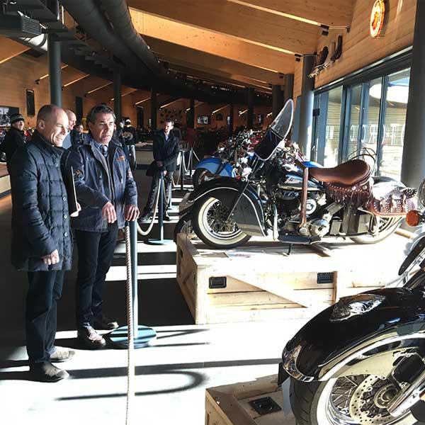 Piccard im Motorradmuseum - Bertrand Piccard in Obergurgl-Hochgurgl