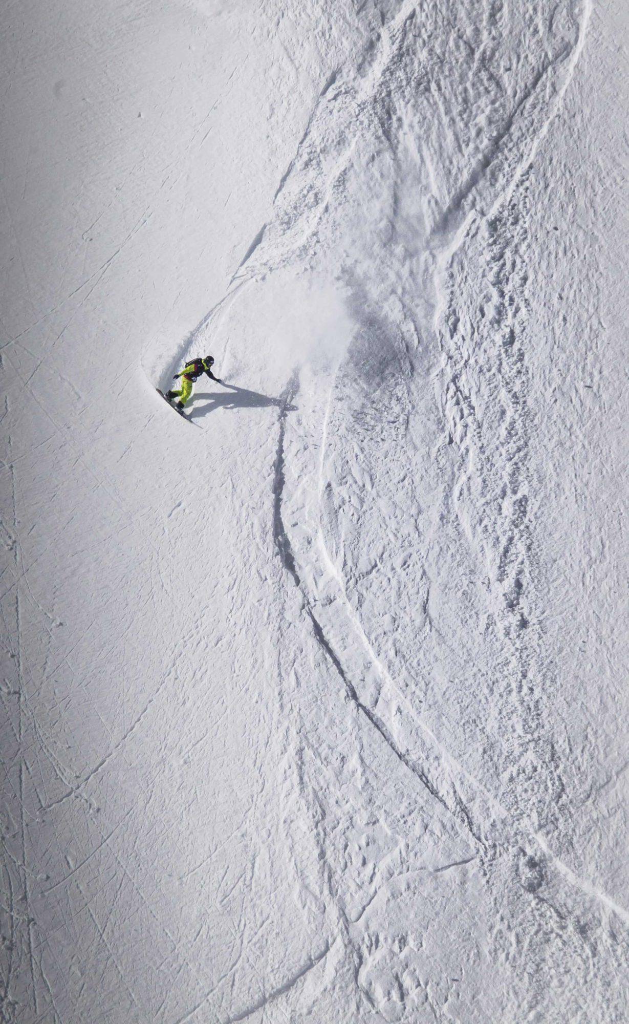 Snowboarder im Tiefschnee - Open Faces Obergurgl-Hochgurgl