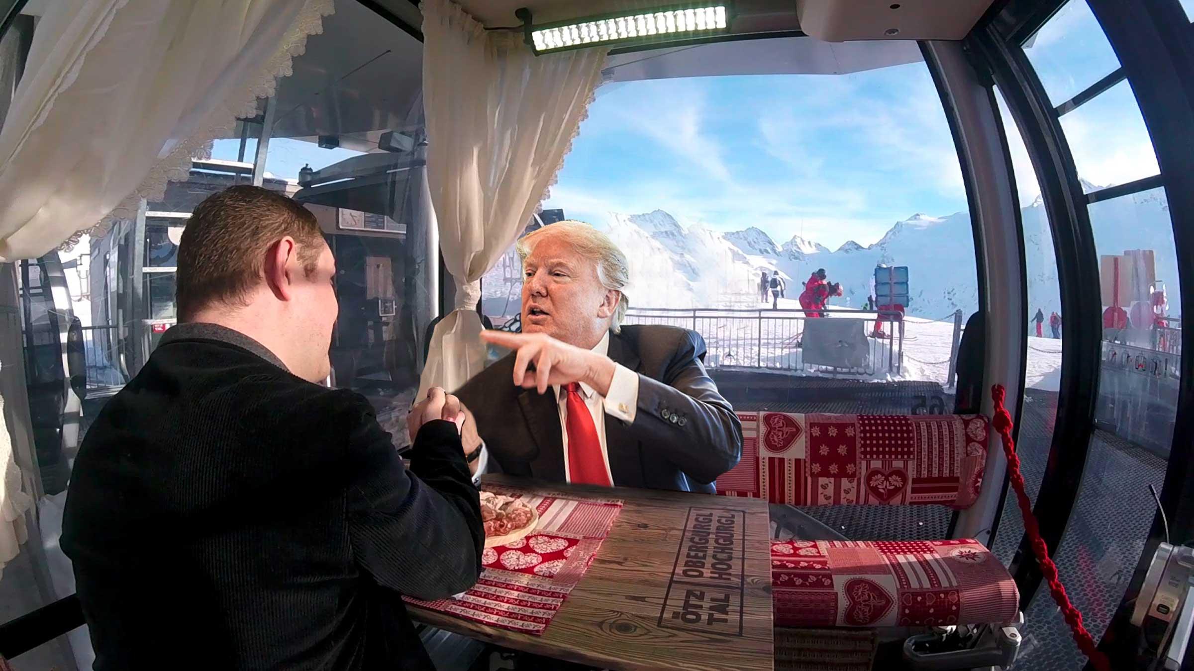 Vorschau: Donald Trump zu Gast in der Stammtischgondel in Obergurgl-Hochgurgl!