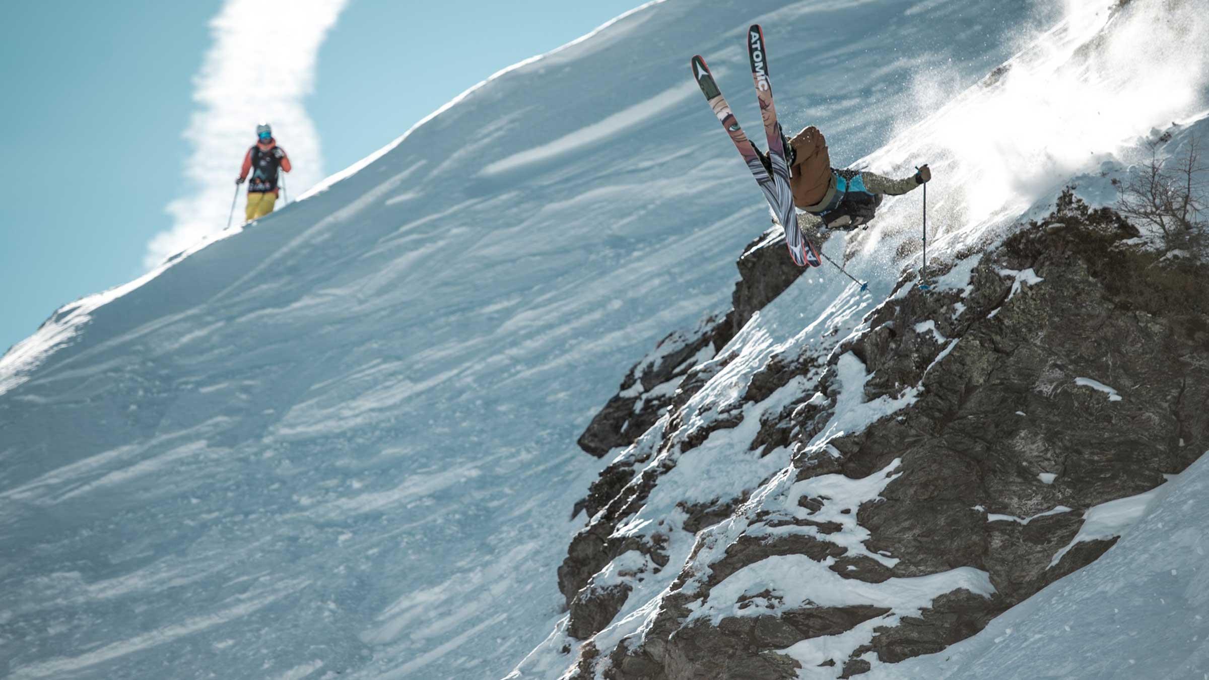 Skifahrer Backflip Cliff - OPEN FACES Obergurgl-Hochgurgl