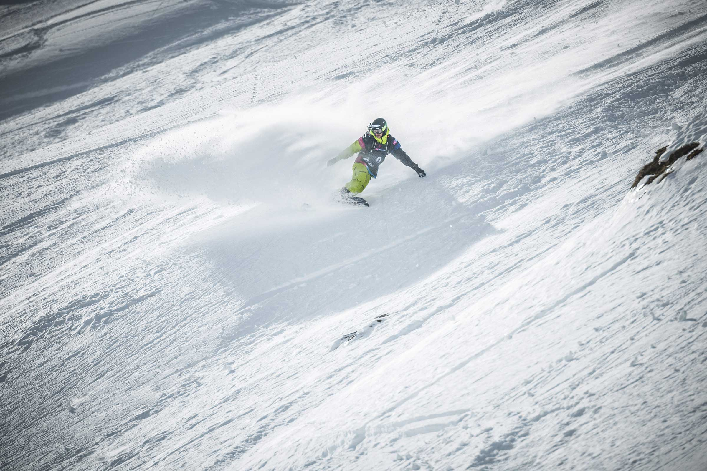 Snowboarder Backside Turn - Open Faces Obergurgl-Hochgurgl