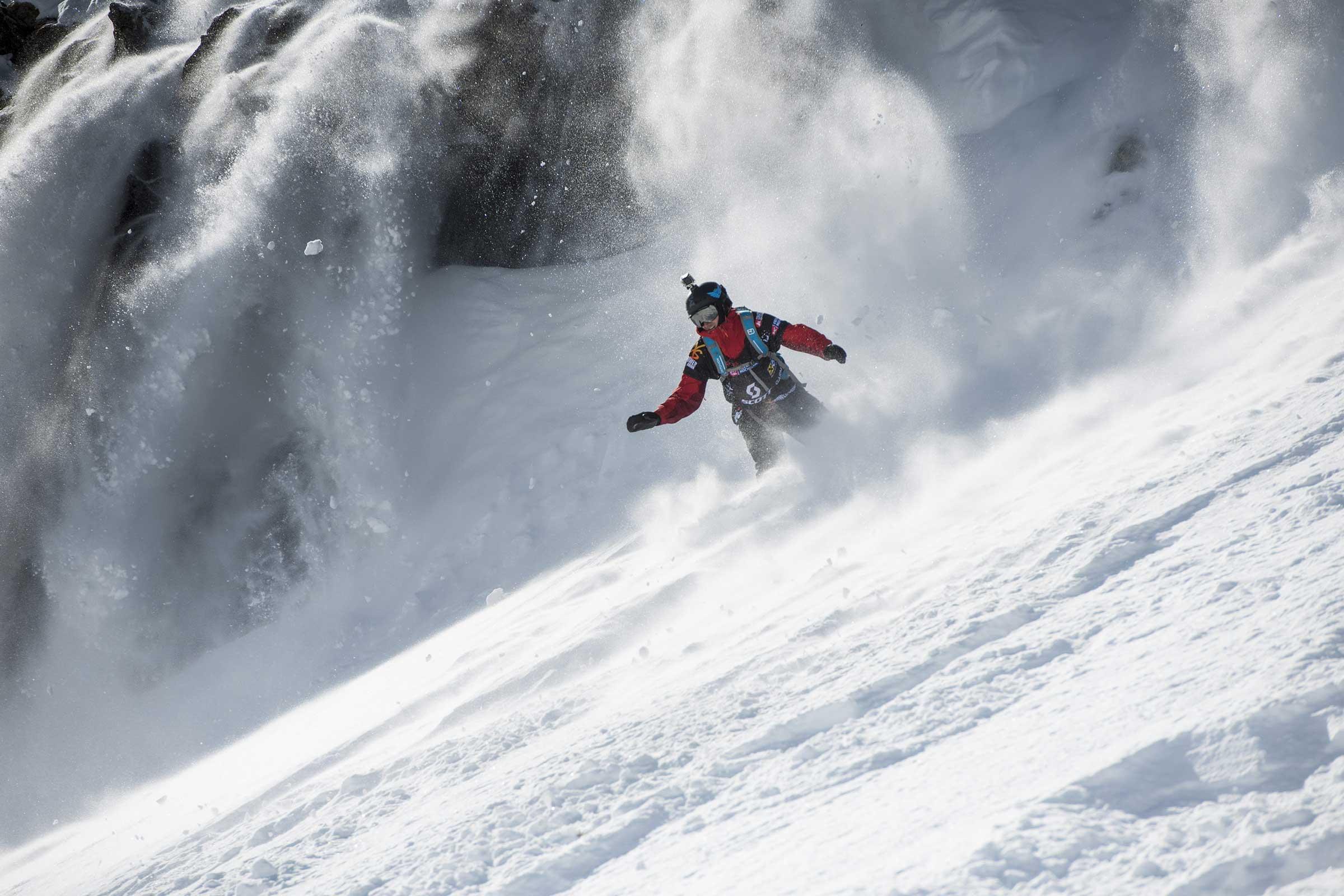 Snowboarder im Slush - Open Faces Obergurgl-Hochgurgl