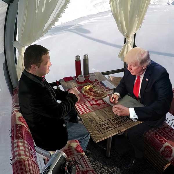 Trump trägt sich im Gästebuch ein - Donald Trump Obergurgl-Hochgurgl