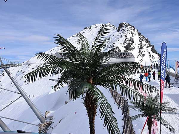 Party im Skigebiet