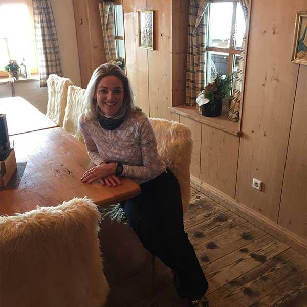 Gastautorin Helen in der Hohe Mut Alm - Skifinish Obergurgl-Hochgurgl
