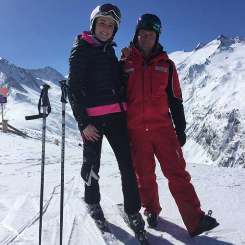 Gastautorin Helen und Skilehrer - Skifinish Obergurgl-Hochgurgl