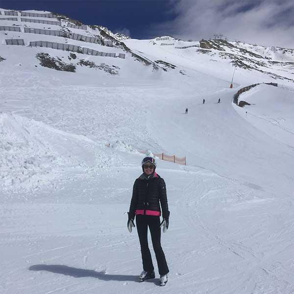 Gastautorin Helen auf der Piste - Skifinish Obergurgl-Hochgurgl