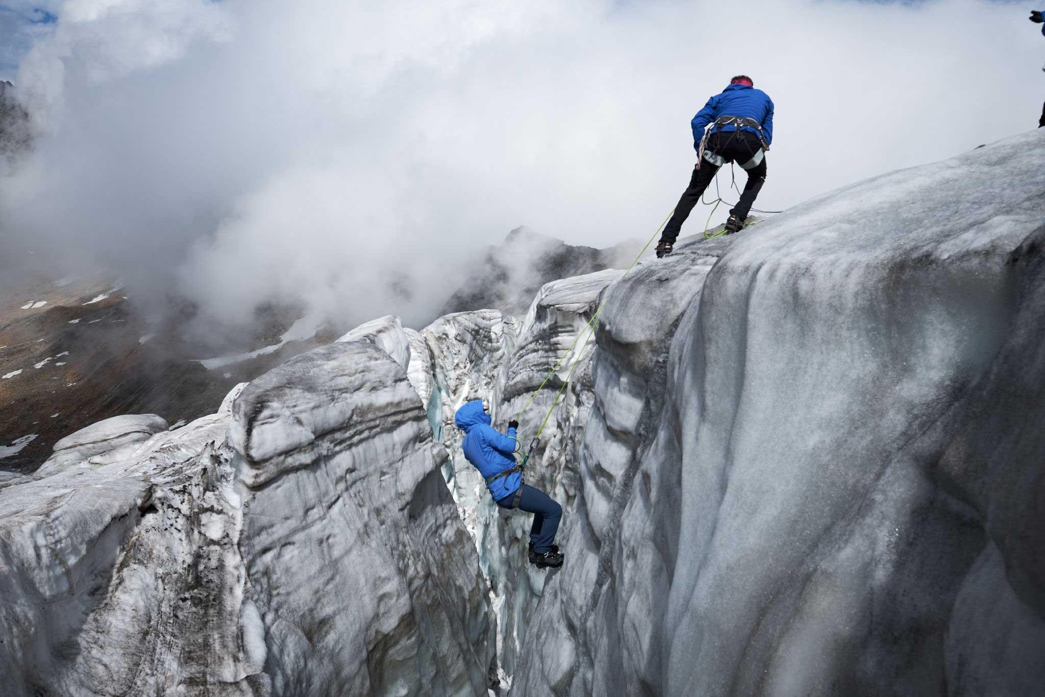 Bergeübung am Gletscher - Salewa GET Vertical Obergurgl-Hochgurgl