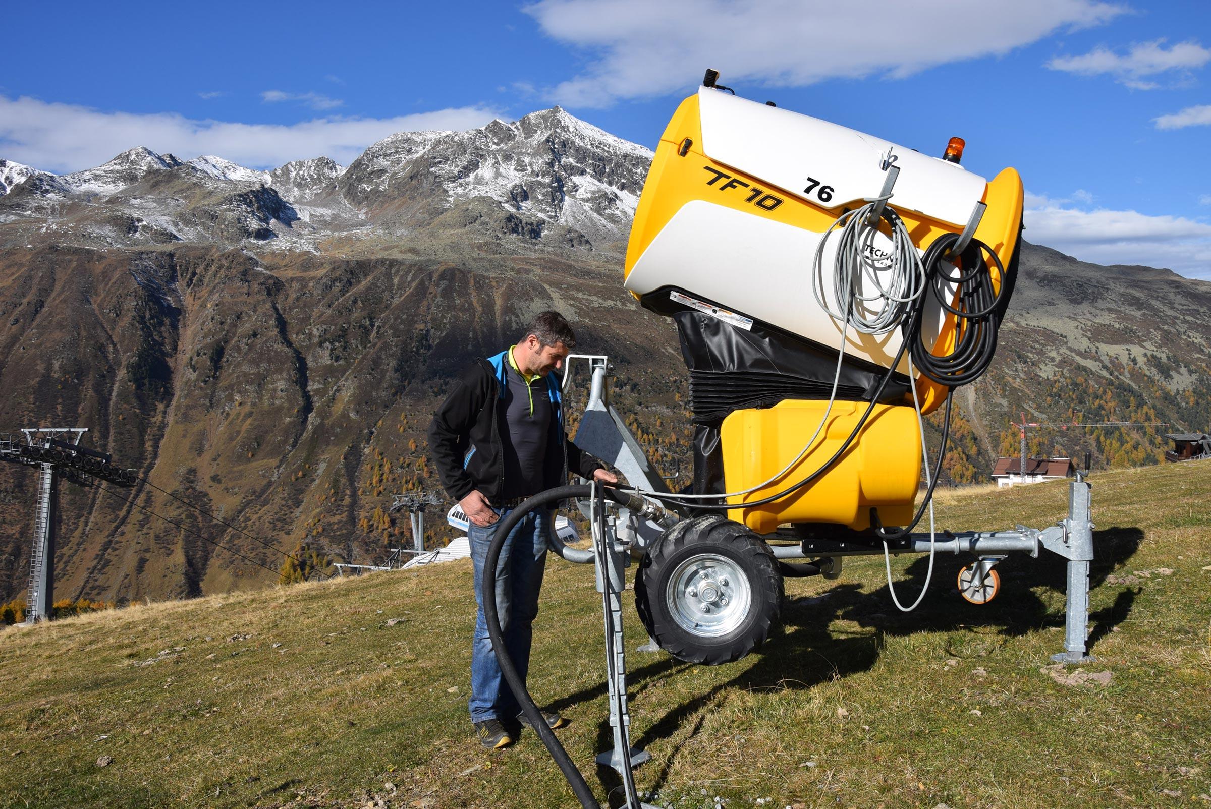 Peter bei Schneekanone - Skigebiet Obergurgl-Hochgurgl