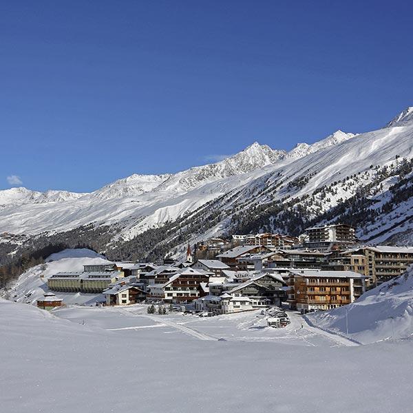 Blick auf Obergurgl im Winter - Obergurgl-Hochgurgl