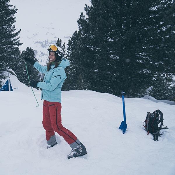 Gastautorin Sarah mit Sonde - Ski Fit Week Obergurgl-Hochgurgl