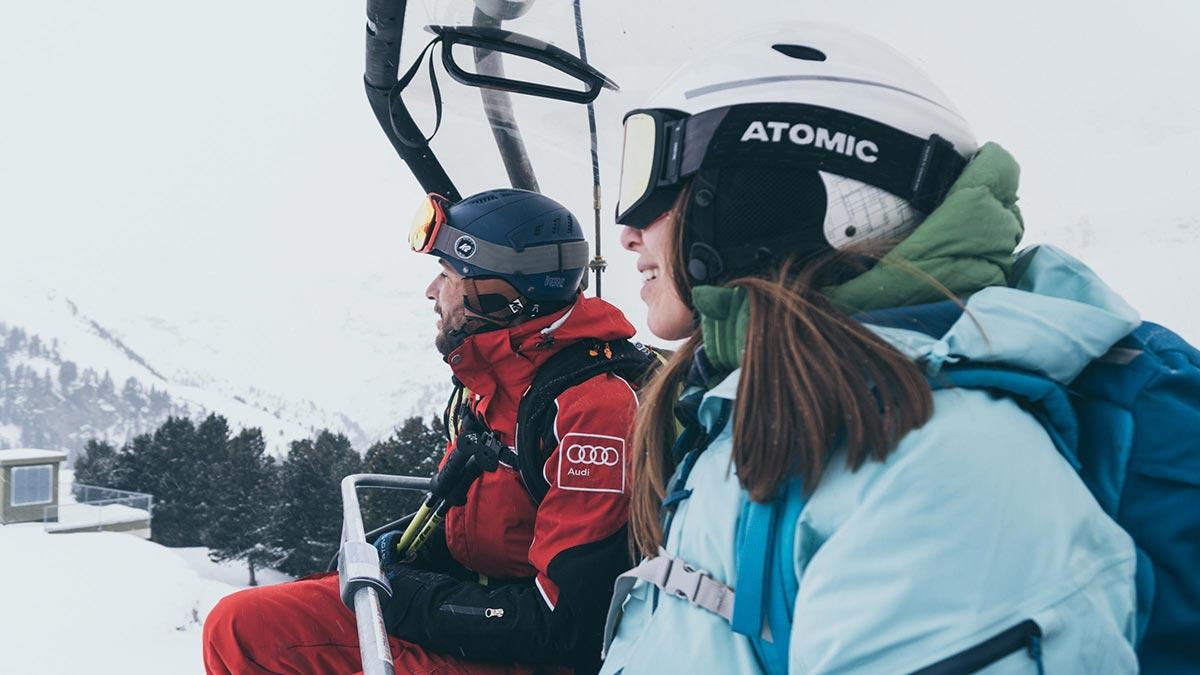 Am Sessellift - Ski Fit Week Obergurgl-Hochgurgl