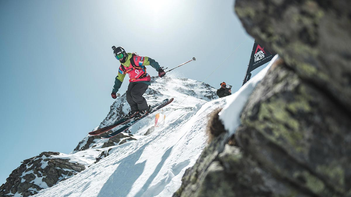 Skifahrer am Start - Open Faces Freeride Contest Obergurgl-Hochgurgl