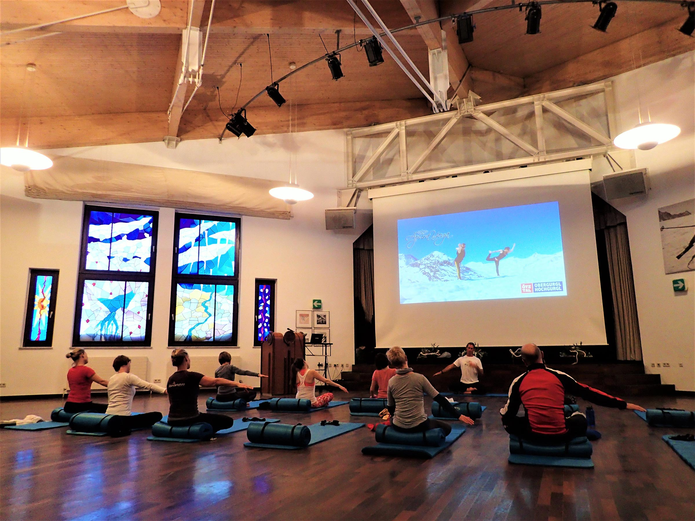 Yoga im Piccardsaal - Firn, Fun & Fire Obergurgl-Hochgurgl