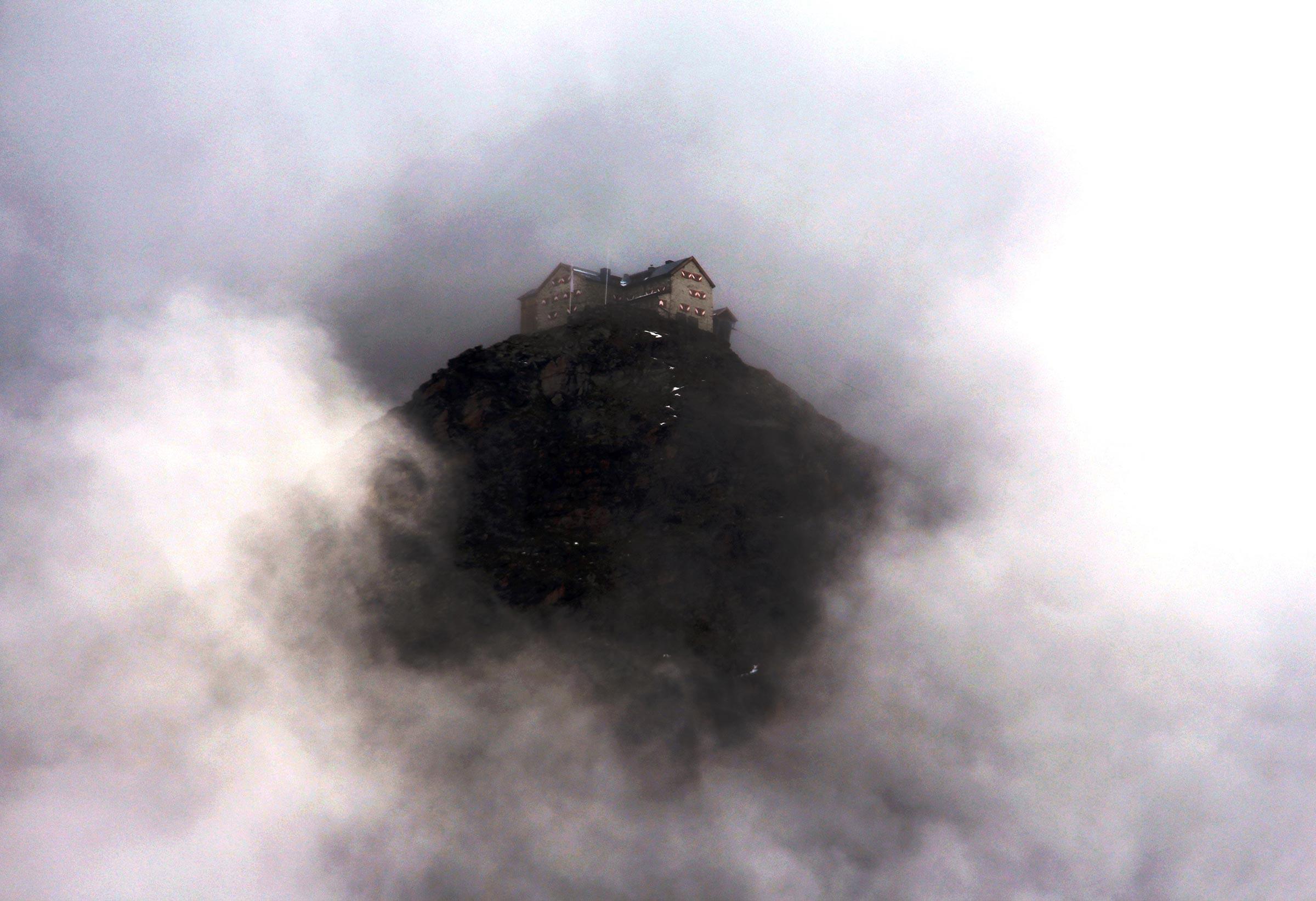 Ramolhaus im Nebel - Piccard Rundweg Obergurgl-Hochgurgl