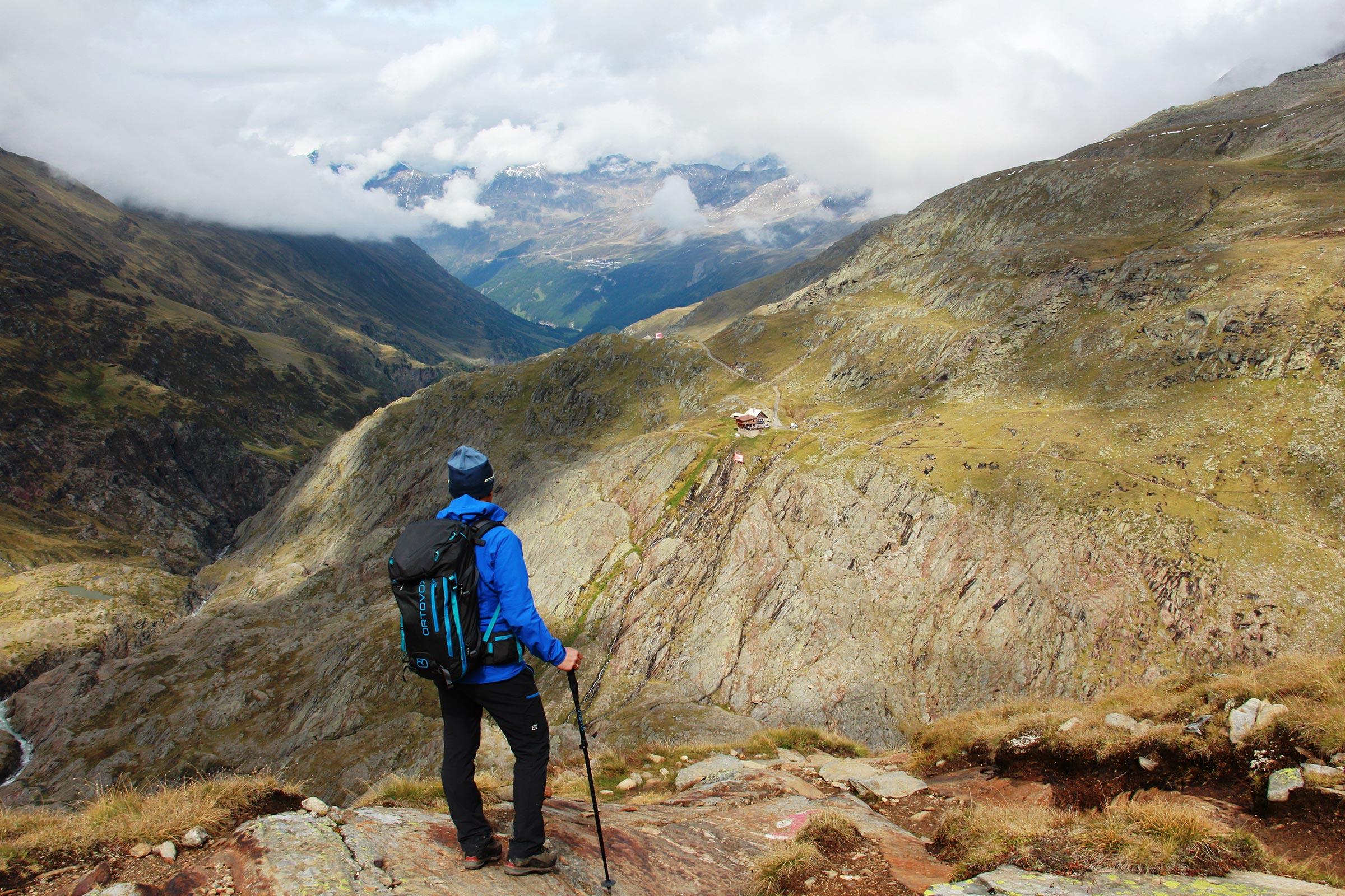 Blick auf die Langtalereckhütte - Piccard Rundweg Obergurgl-Hochgurgl