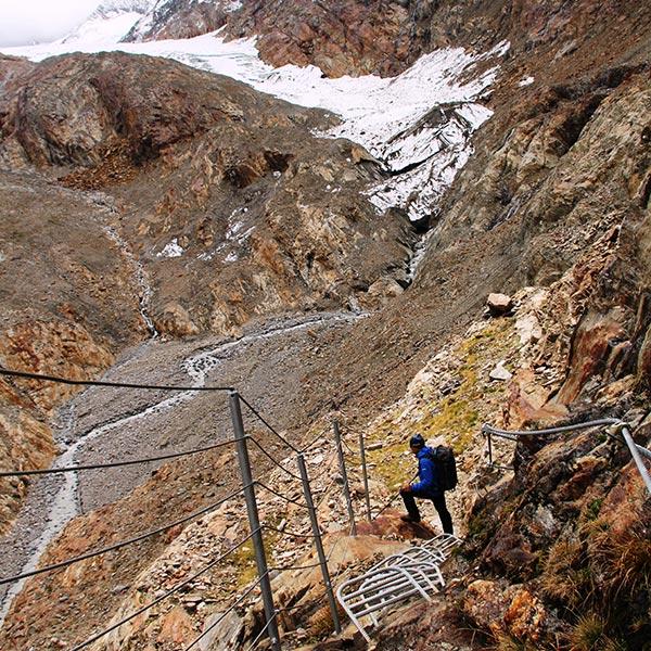 Abstieg zur Piccard Brücke - Piccard Rundweg Obergurgl-Hochgurgl