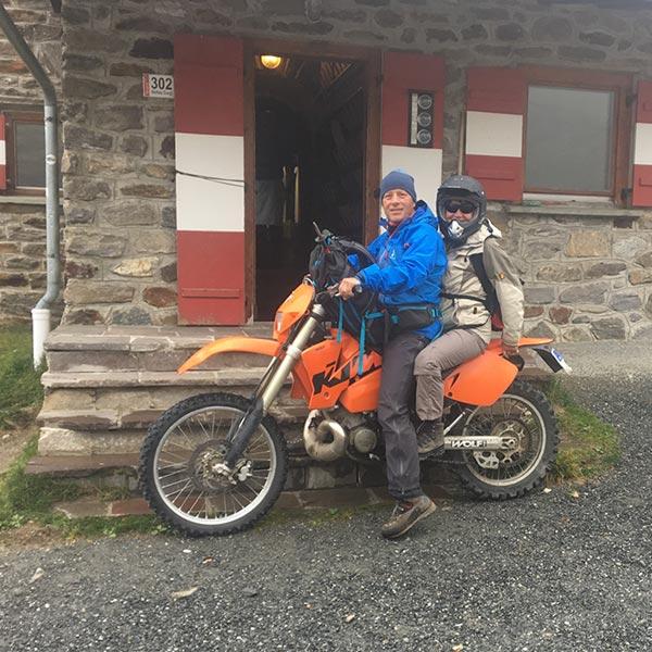 Gastautorin Dagmar Gehm auf Motocross - Piccard Rundweg Obergurgl-Hochgurgl