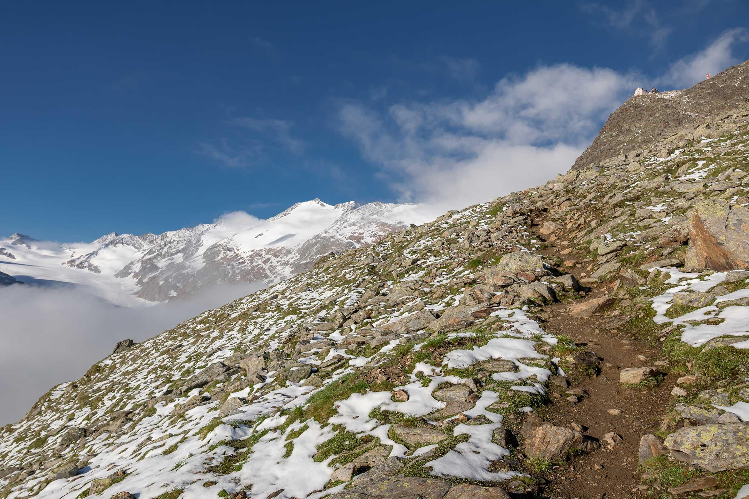 Weg zum Ramolhaus - Ötztaler Gletscherflohmarsch