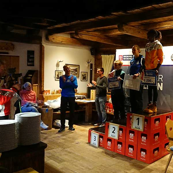 Siegerehrung Top Mountain Run - Gletscher Trailrun Obergurgl-Hochgurgl