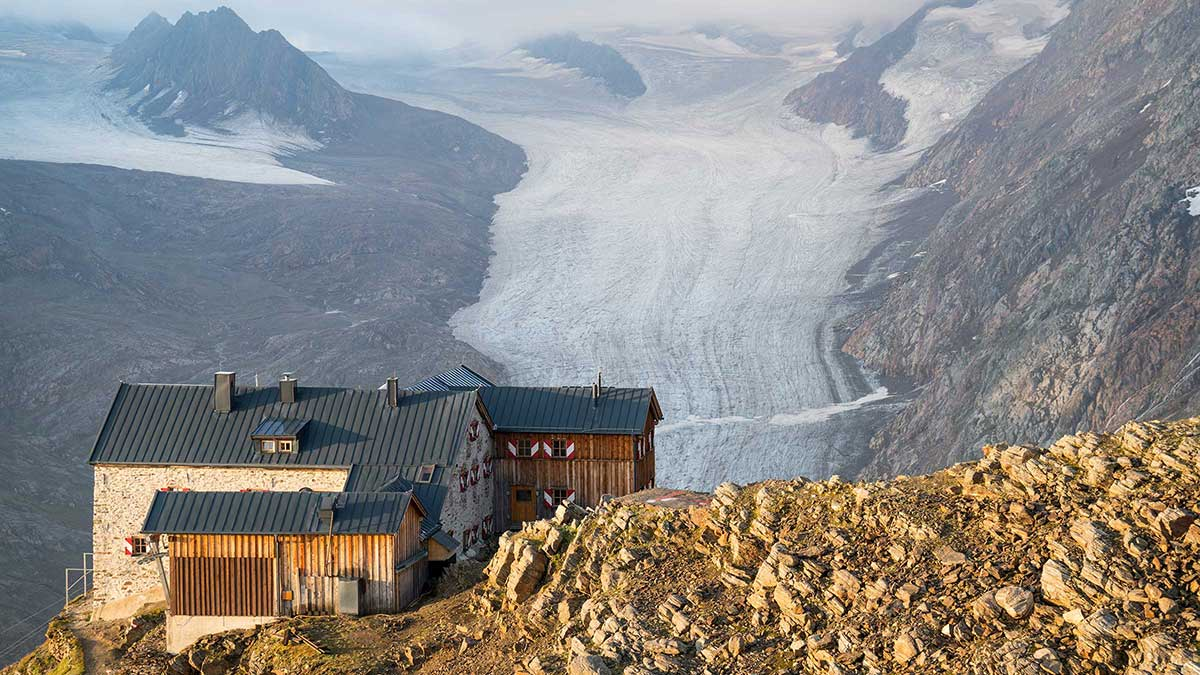 Ramolhaus mit Blick auf Gurgler Ferner - Ötztaler Gletscherflohmarsch