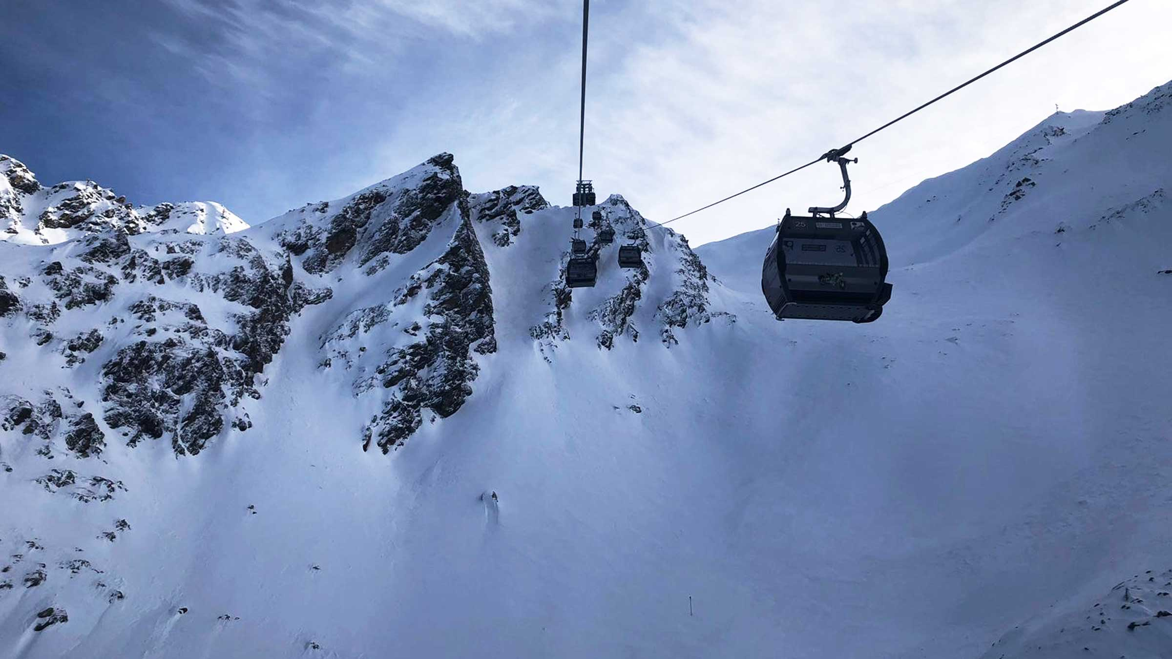 Hit the pristine slopes & powder stashes with the new Kirchenkar Mountain Gondola II