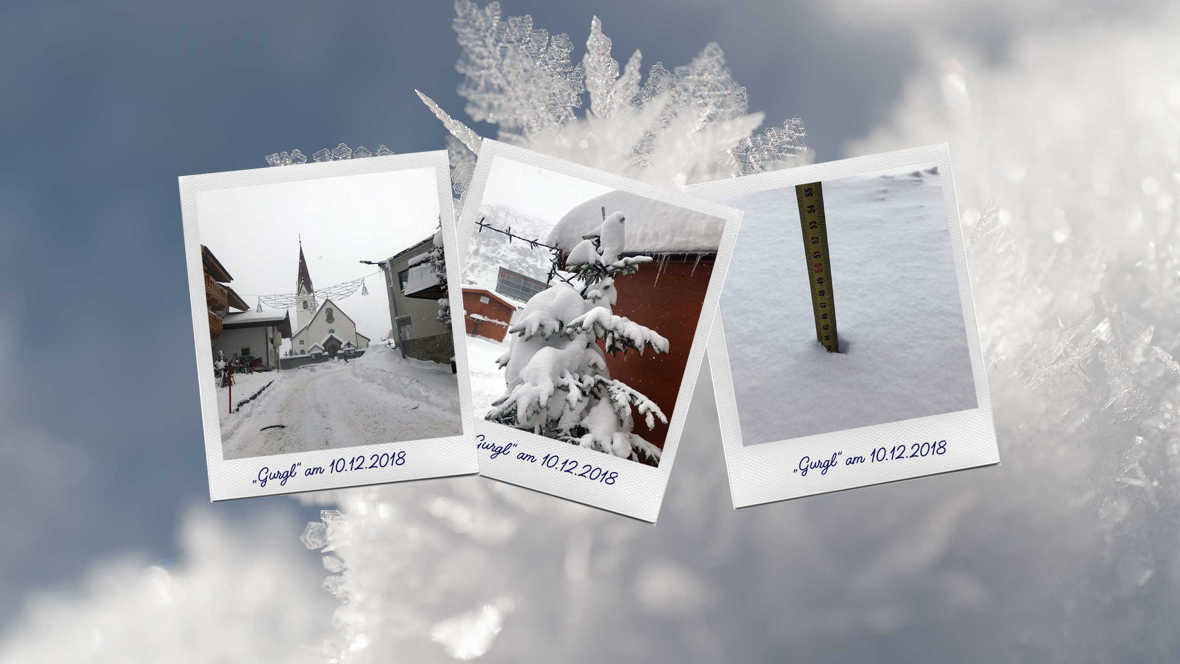 Snow-Update aus Obergurgl-Hochgurgl vom 10. Dez. 2018