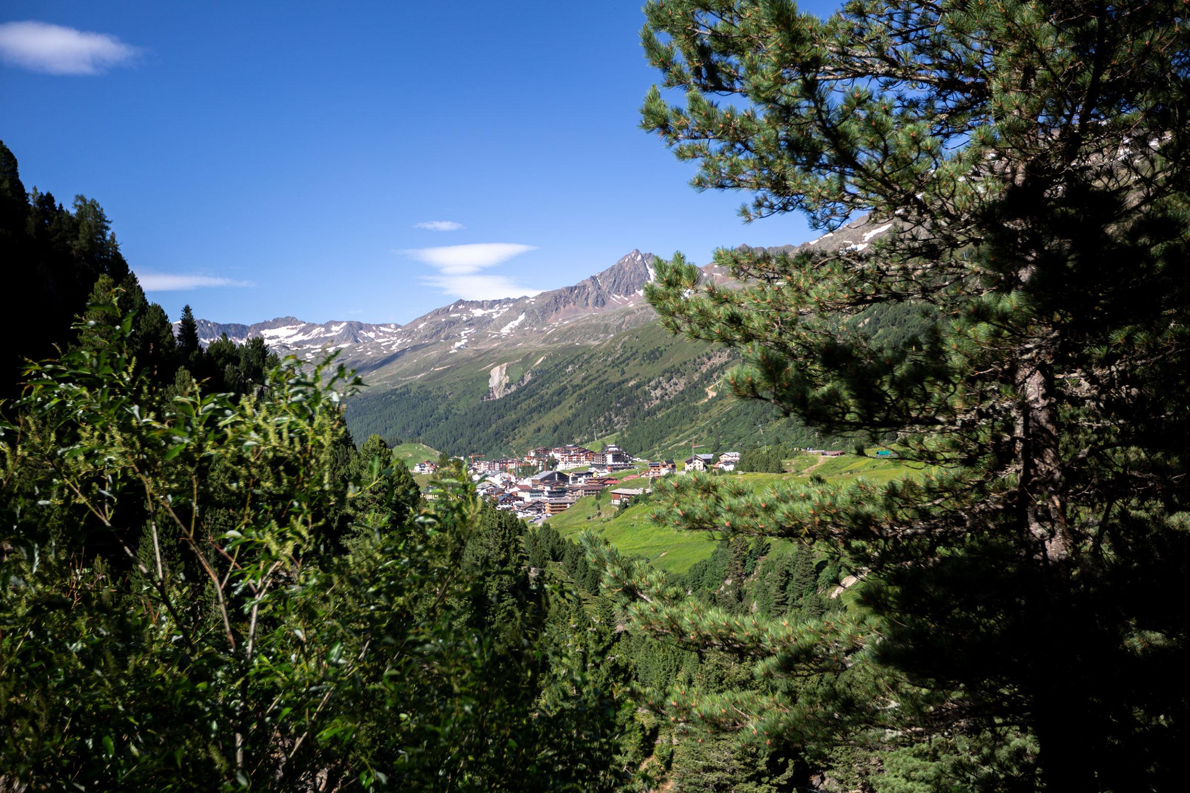 Blick auf Obergurgl - Gletscher Trailrun Obergurgl-Hochgurgl
