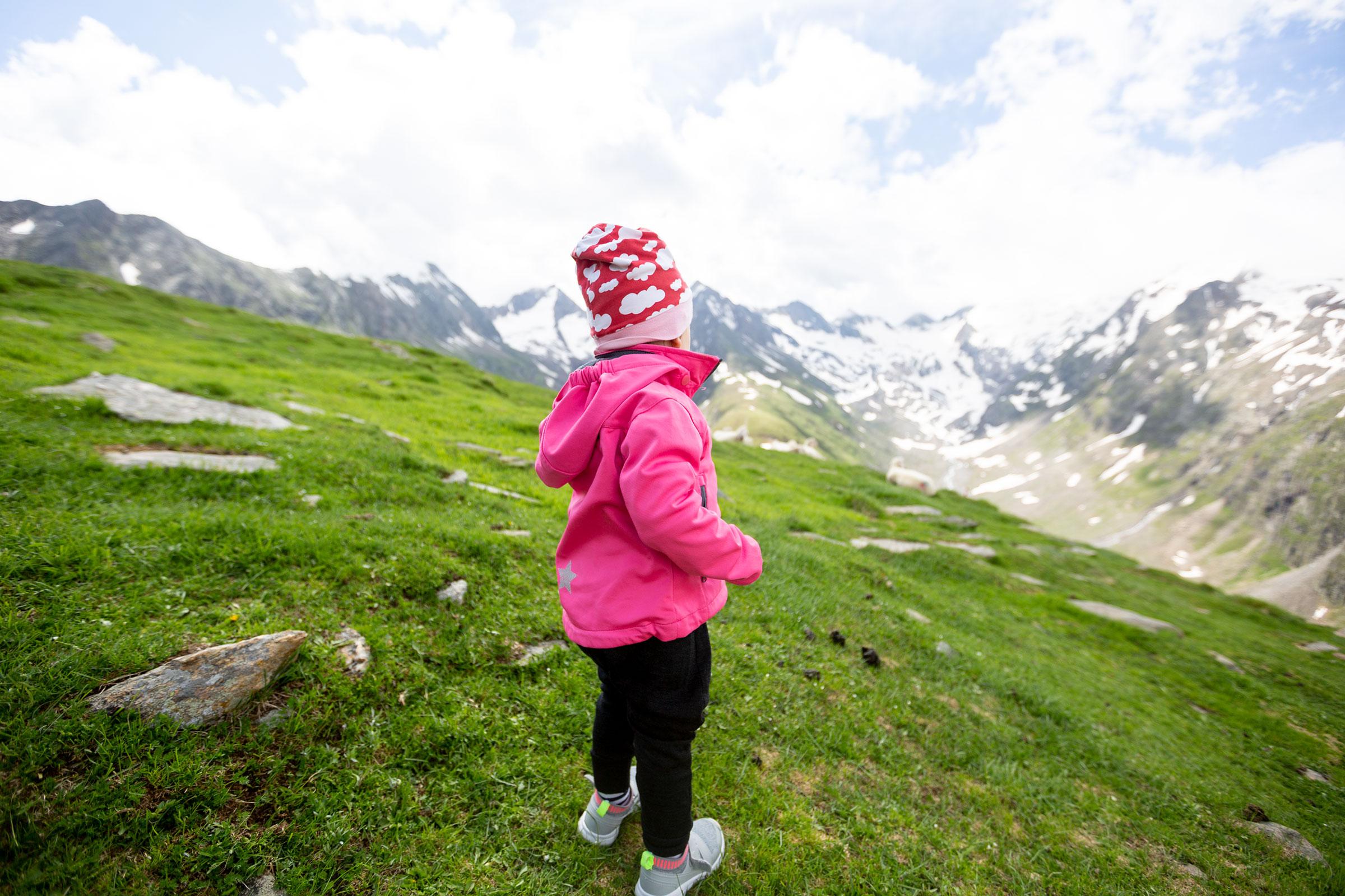 Kind auf Hohe Mut Alm - Gletscher Trailrun Obergurgl-Hochgurgl