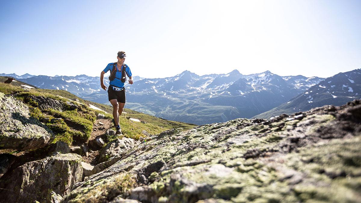 Trailrunner voll fokussiert - Gletscher Trailrun Obergurgl-Hochgurgl